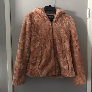 Rampage Jackets & Coats - Vintage Rampage light pink faux fur coat